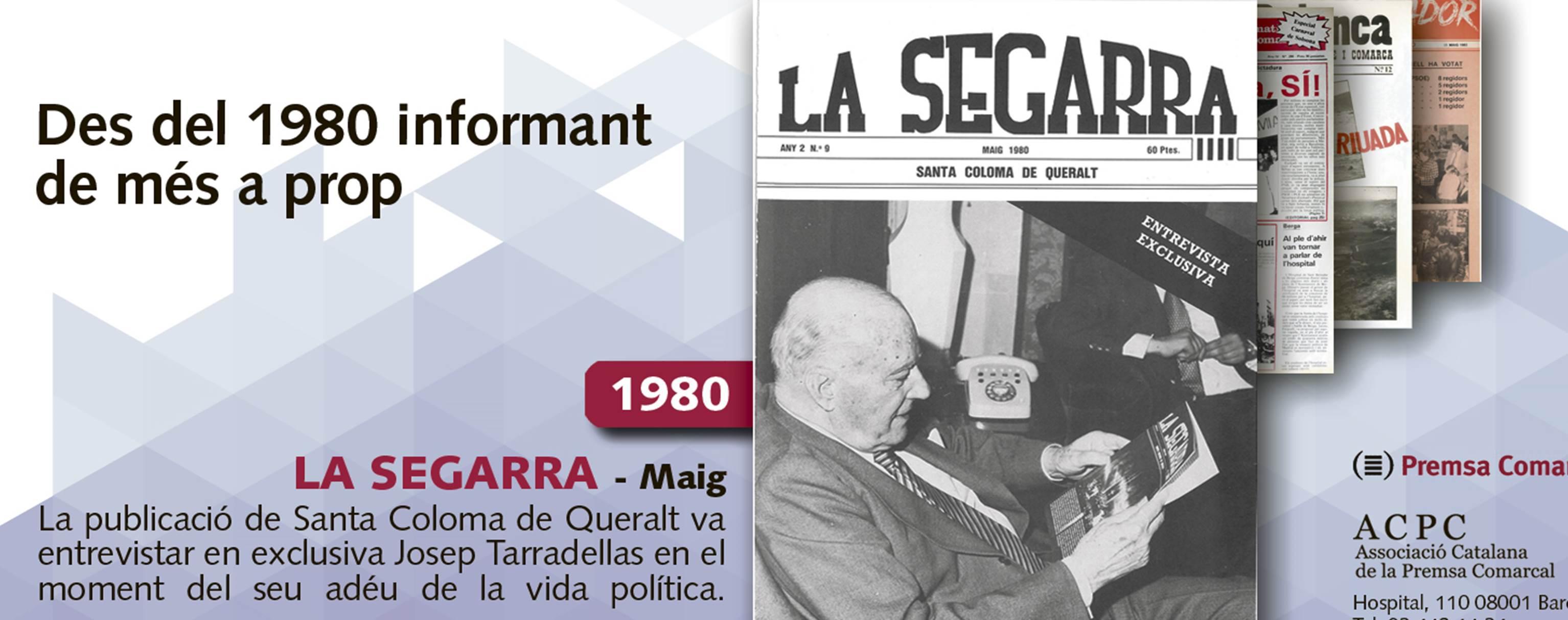 Josep Tarradellas entrevistat a 'La Segarra' el 1980, tret de sortida a la campanya de portades de l'ACPC