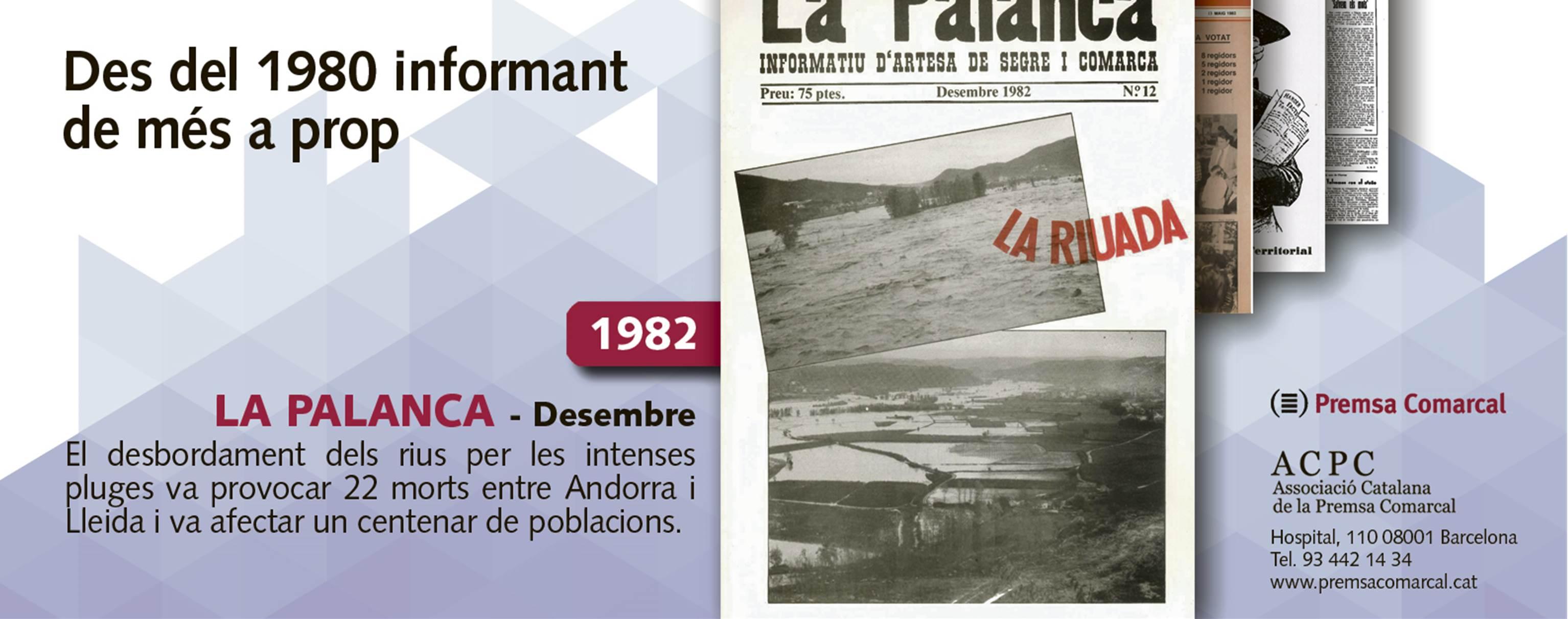 La riuada del 82 a 'La Palanca', tercera portada de la campanya dels 35 anys de l'ACPC