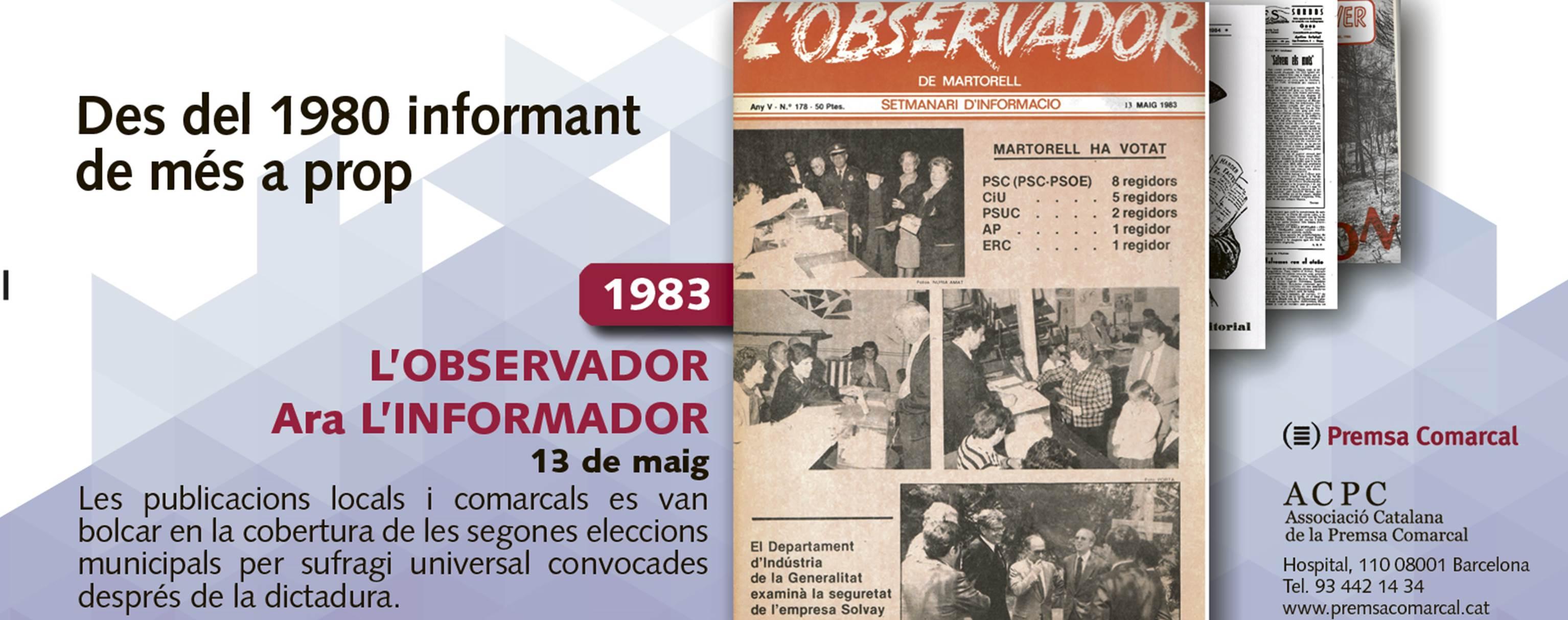 Les segones eleccions municipals després de la dictadura a la campanya dels 35 anys de l'ACPC