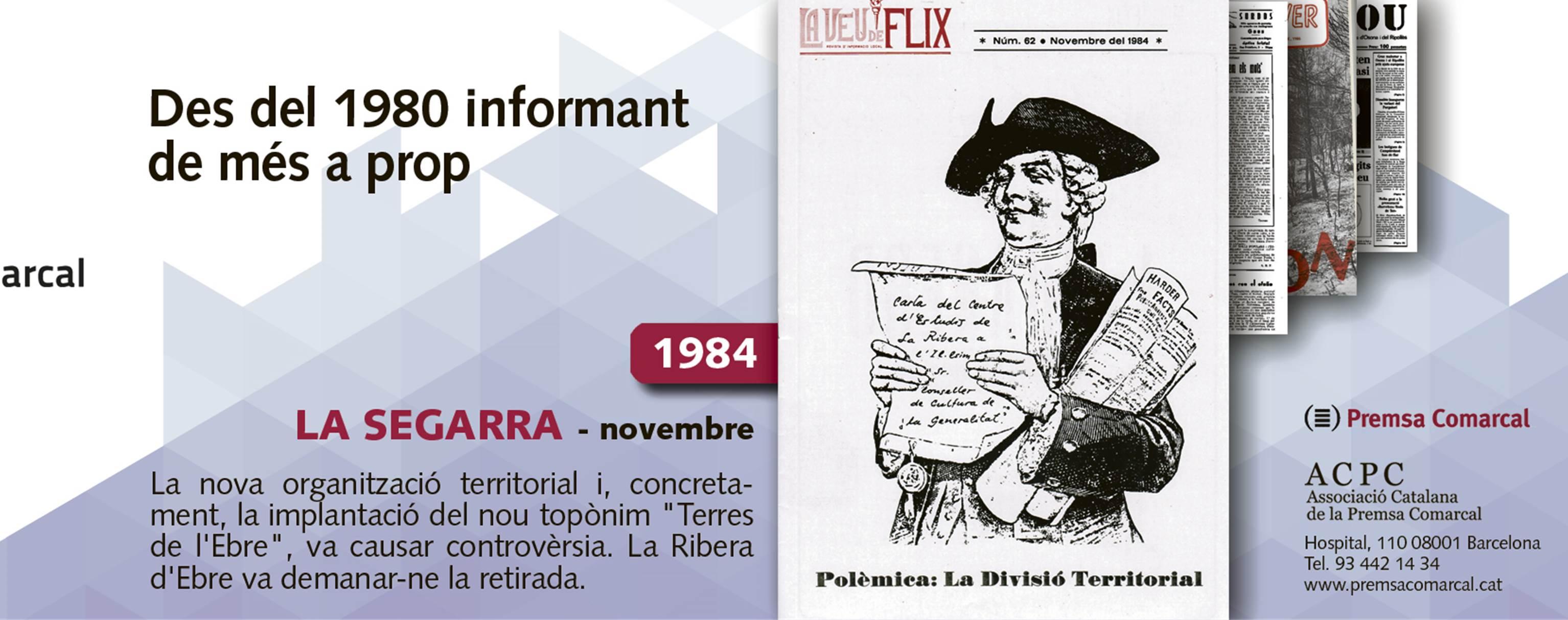 'La Veu de Flix' de 1984 recorda la polèmica pel topònim 'Terres de l'Ebre' a la campanya de l'ACPC