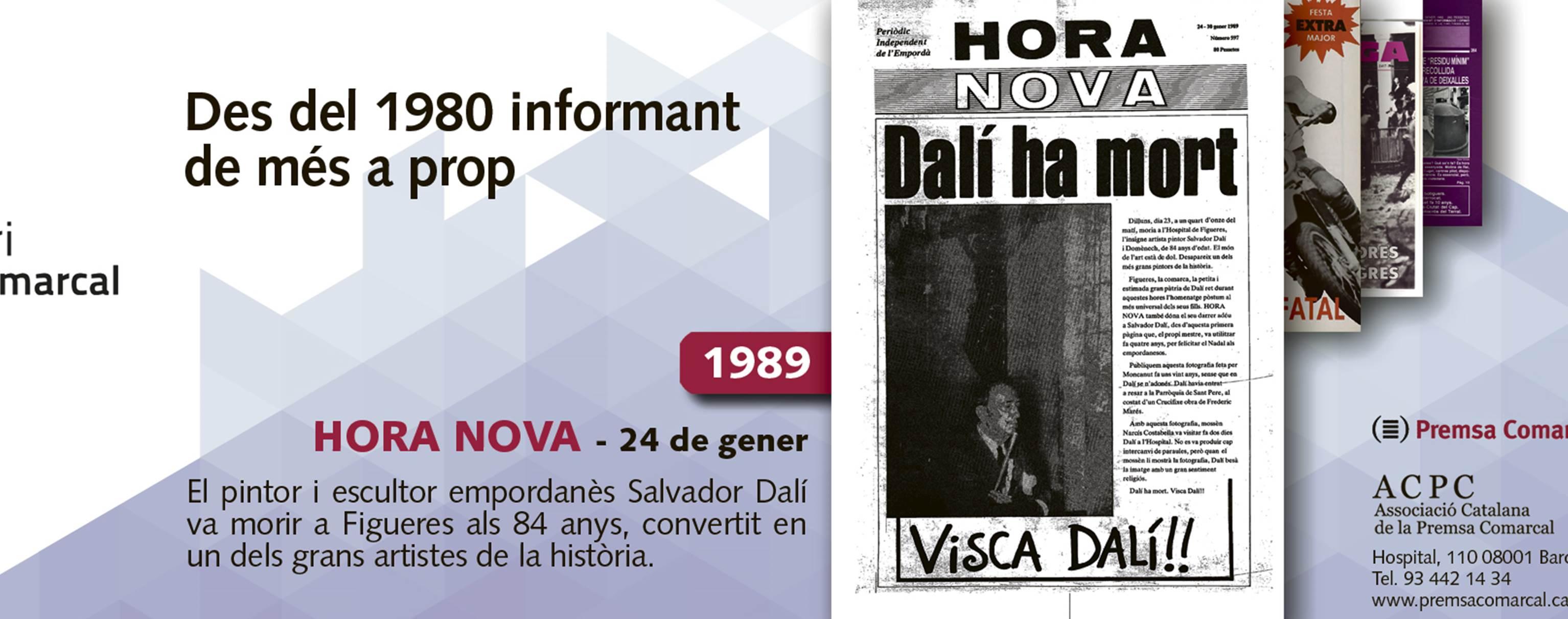 La mort de Dalí l'any 1989 explicada a l''Hora Nova' a la campanya dels 35 anys l'ACPC