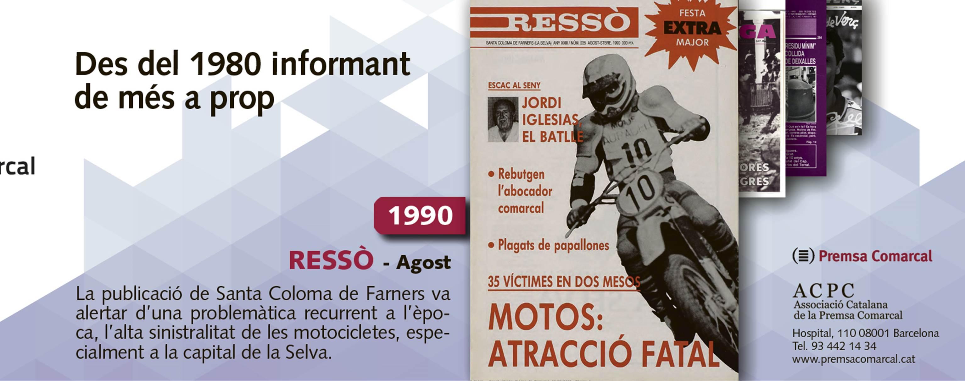 La sinistralitat de les motos el 1990 a 'Ressò'; 35 anys de l'ACPC