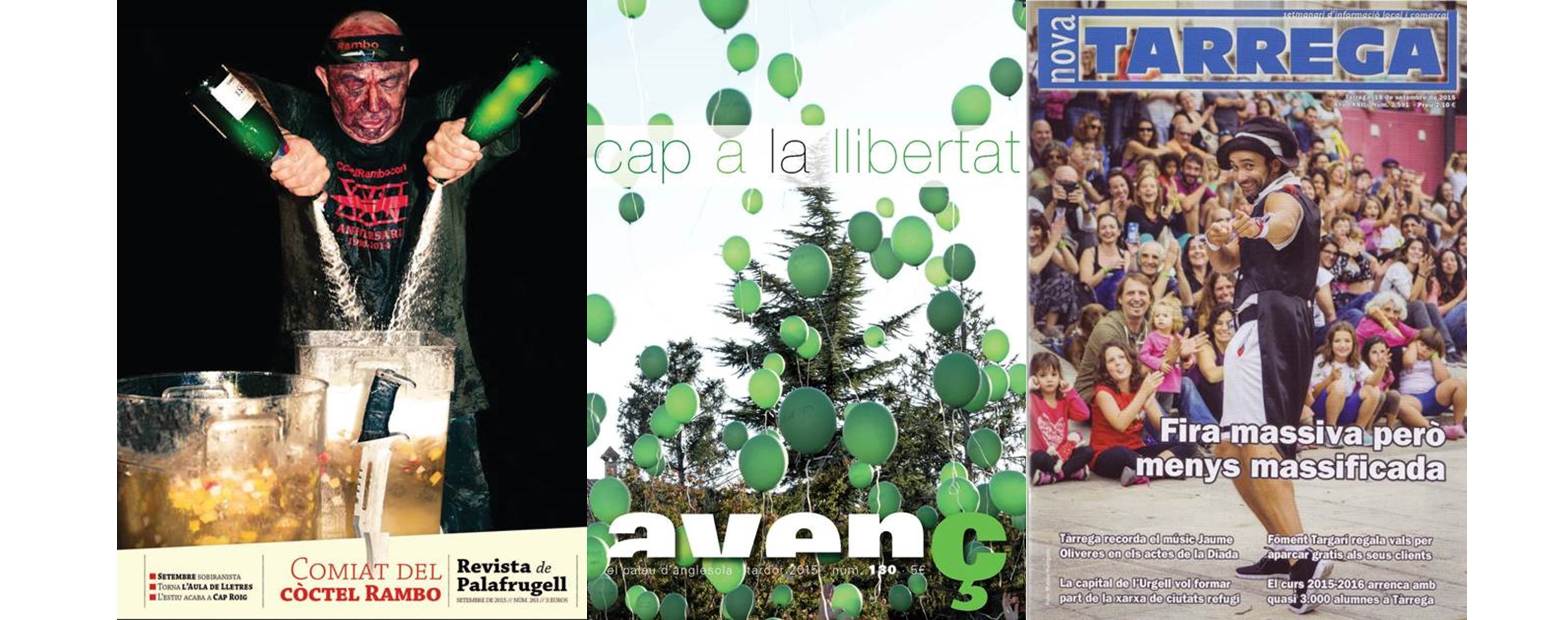 'Nova Tàrrega', 'Revista de Palafrugell' i 'L'Avenç' millors portades de l'any