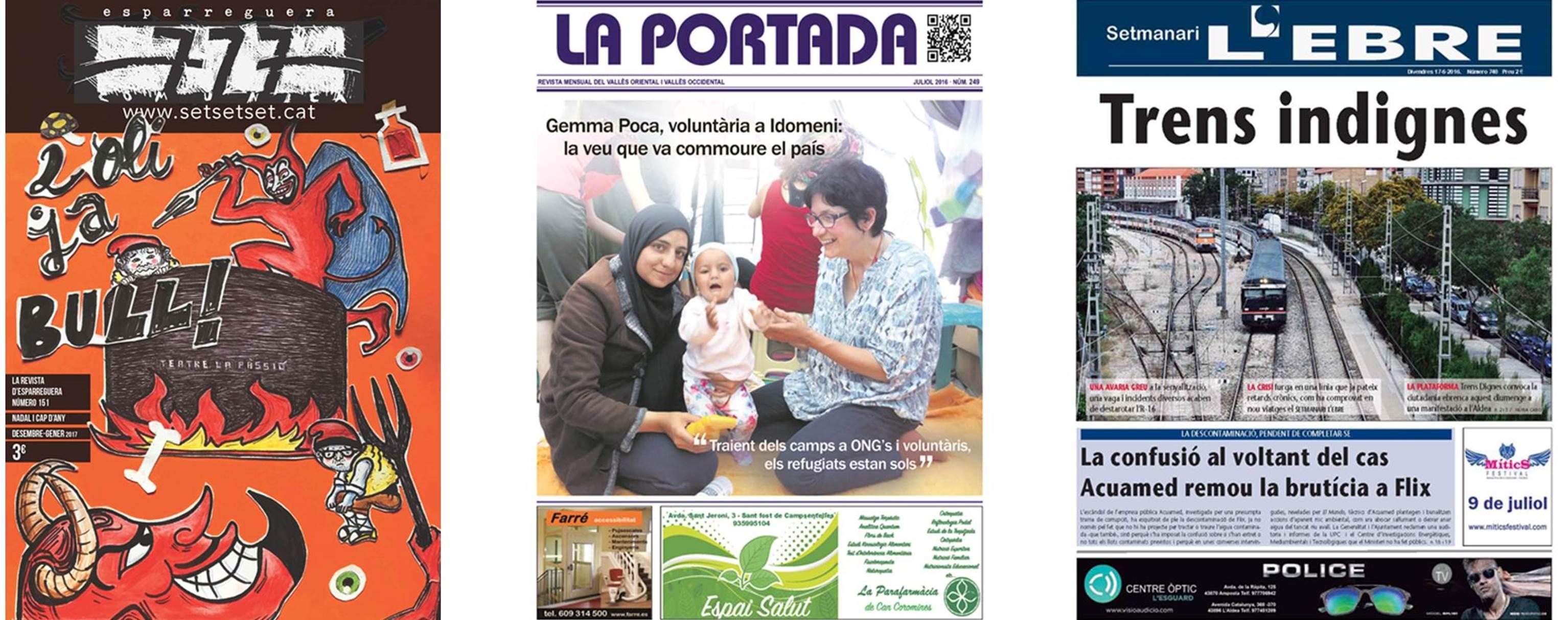 L'Ebre, La Portada i 777 Comunica, millors portades de l'any a la Premsa Comarcal