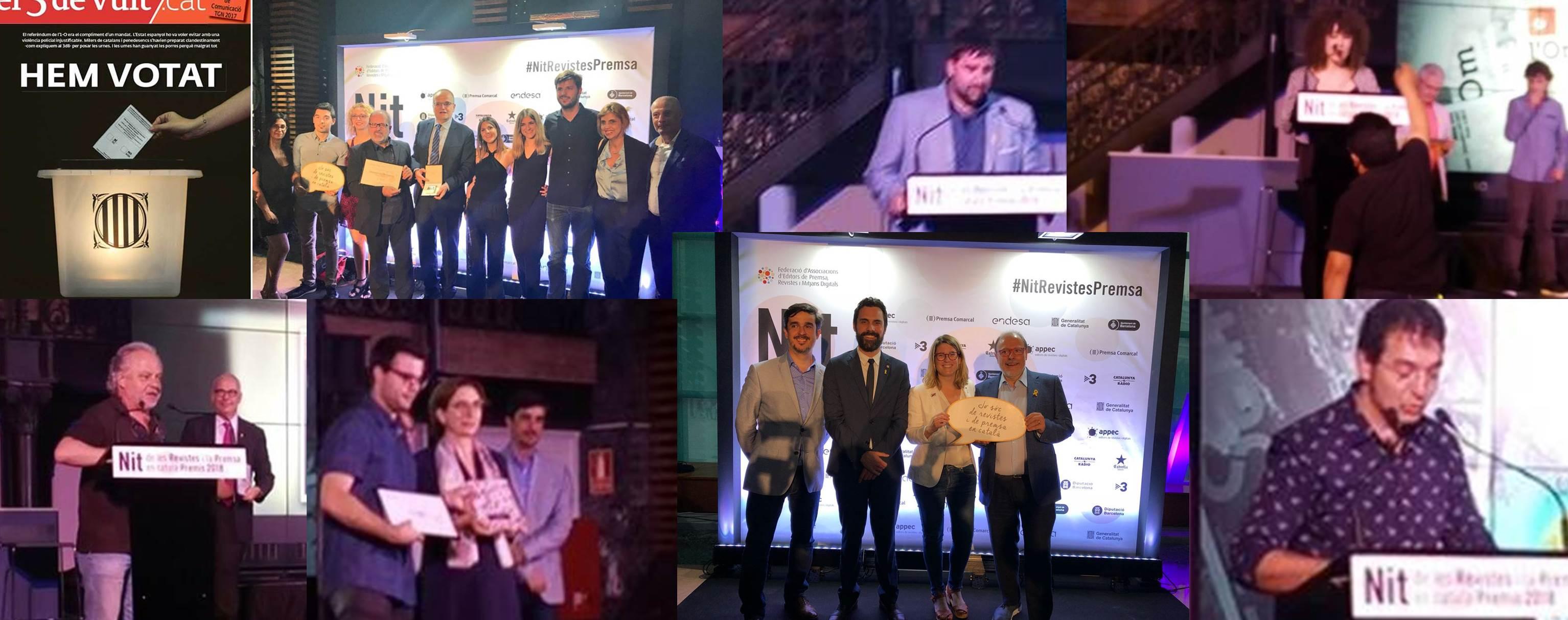 Les publicacions de l'ACPC acaparen premis a la Nit de la Premsa en Català